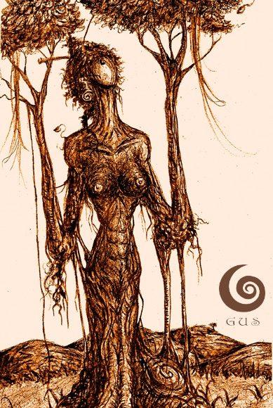 Raiz de Vida/Gustavo Adolfo Fine Arts Ink Drawing